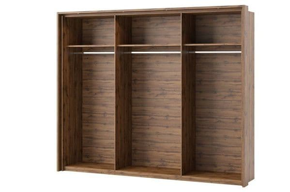 Hilton Grey With Oak Effect Shelves SZLV83
